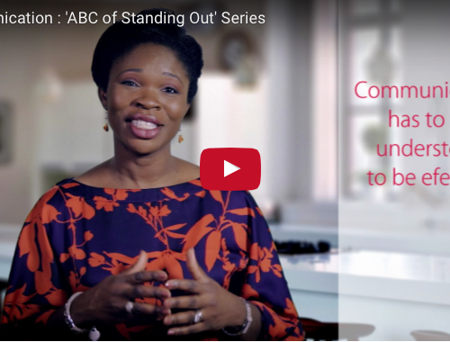 Communication : 'ABC of Standing Out' Series