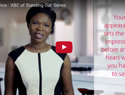 Appearance : 'ABC of Standing Out' Series